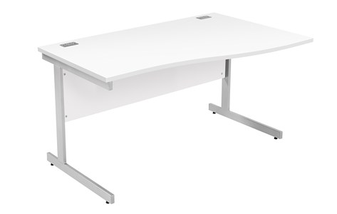 Right Handed Fraction Plus Right Hand Wave Desk ZFPW1410(R)BCH